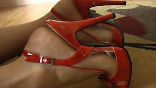 Red Spike Heels