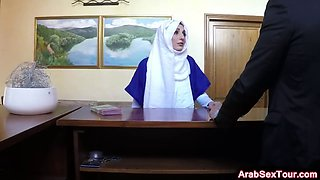 Beautiful Arabic girl sells her body for a place to sleep