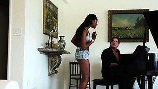 Taboo black stepdaugher seducing white daddy