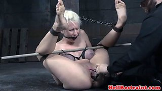discreet pierced sub tormented with toys