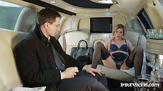 undercover agent ria sunn fucks russian oligarch in a limo