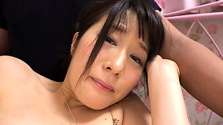 Petite Japanese cutie enjoying hard meat and rough sex