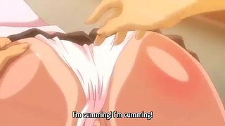 Busty anime student being fucked after school