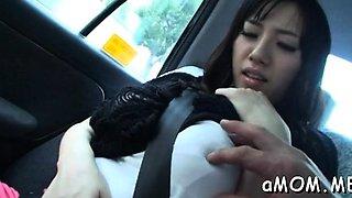 Astonishing japanese Azusa Nagasawa is rubs her clit