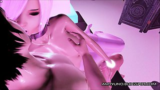 Emo Kitty Gets Her Feet Used And Cummed On In 3D Adult Game