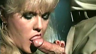 Magnificent vintage blonde milf gives head and rides it on top