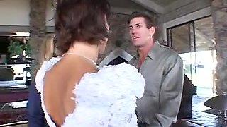 Bride & a honey share a large schlong