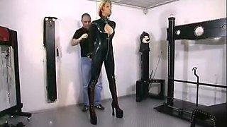 Incredible homemade BDSM, Latex adult video