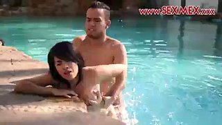 Hot latina teen janeth rubio takes a cock in her tight wet pussy in the pool