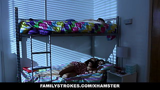 familyStrokes - Cute Stepsis Fuck brother In Her Dorm
