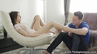 Teeny Lovers - Foot massage and 69 fucking