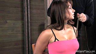 Busty bint Lea Lexis really loves being restrained hard