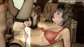 Busty and nasty white lady is black stockings is hungry for a dick