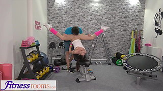Fitness Rooms Slim athletic babe standing 69