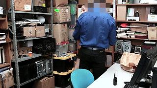 Aggressive guard catches thief and FUCKS HER HARD