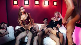 Emily X and Carmen Jay want to bounce on a couple of hard pricks