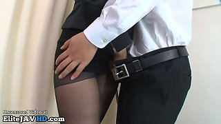 who is this japanese teacher that strokes student against her nylons