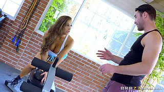 Abigail and Nicole will stop the workout only to be in a threesome!