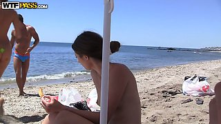Real sex party on the sunny beach 2. Part 5