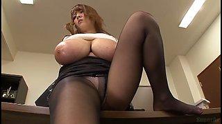 huge tits japanese secretary