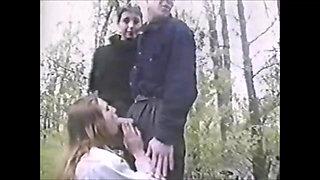 two ukrainian girls fuck in nature