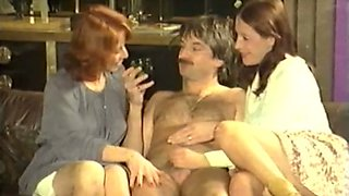 Naughty milf gets shared with another man for threesome