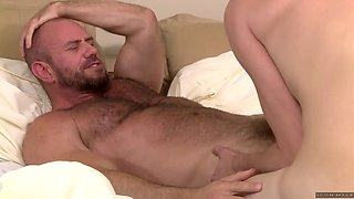 iconmale hairy stud fucking dad with young passion