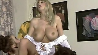 Happy man sure wants to start with spectacular busty blondie