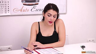 taking driving test with valentina nappi