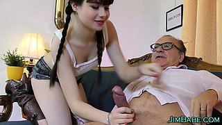 Teen gets old jizz load