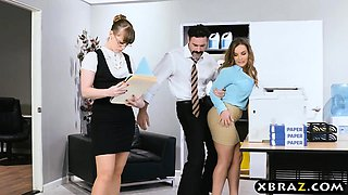 At The Office Porn - New big tits employee gets a good office initiation fuck