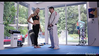 karate training finally leads to sensual love making