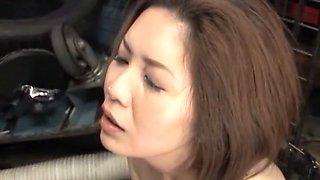 Fabulous Japanese model in Crazy Slave, Blowjob JAV movie