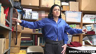 teen monica gets caught using a clever shoplifting trick