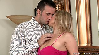Depraved and slutty blonde babe loved to get fucked in her bedroom