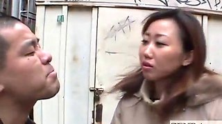 Japanese woman teasing a man in public places through masturbates subtitle