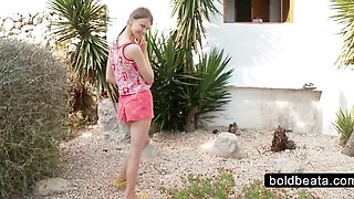 Hot Beata showing pissing cunt