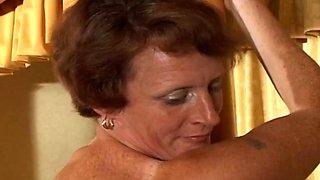 Older lady spanked